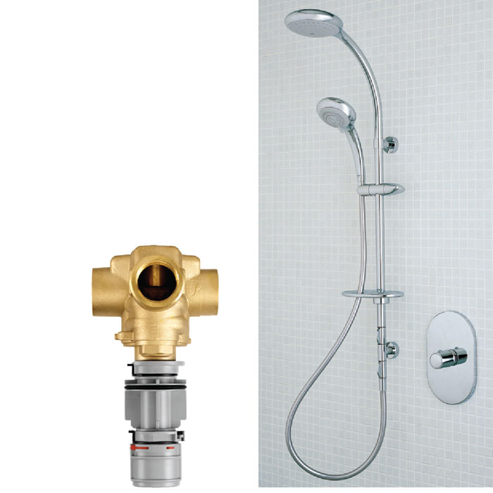 Merrows Bathrooms and Showers: Trevi Central Therm Valve