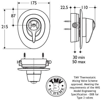 Merrows Bathrooms and Showers: Trevi Central Therm Shower