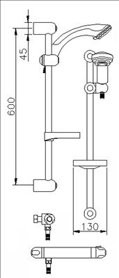Merrows A3900 Reef Thermostatic Bar Valve With Slide Rail Kit